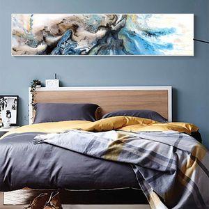 WANGART giclée Arte abstrata Pintura Coastal Home Decor Modern tela impressões presente Wall Decor tamanhos grandes Beach House Art T200827