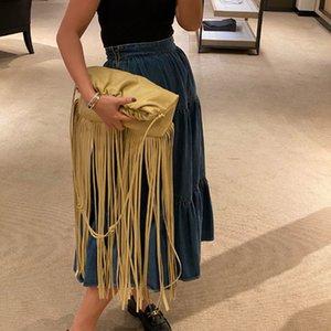 INS Mode Tassel femmes Sac à bandoulière en cuir de haute qualité Bohemian sac à main d'embrayage sac à main style national frangée Messenger Bag