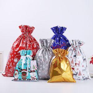Home Christmas Gift Sacks Drawstring Bag Santa Sack Bags gift bundle pocket Gift Storage Bag T10I0032