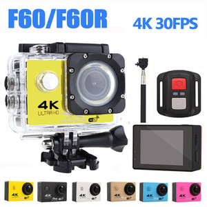 Sports & Action Video Cameras Ultra HD 4K Camera WiFi Camcorders 16MP 170 Go Cam Deportiva 2 Inch Screen F60 F60R Waterproof Sport Pro 1080P