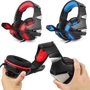 cgjxs G7500 Gaming Headset Headphone com LED Microfone Baixo auscultadores para New Xbox One Laptop Ps4 telefone do PC Gamer fone de ouvido