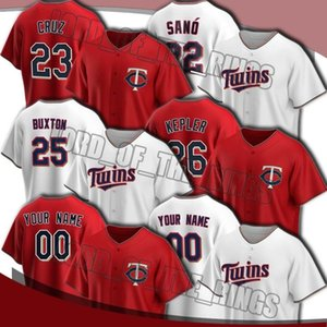 Custom Twins 26 Max Kepler Jersey 23 Nelson Cruz 25 Byron Buxton Jerseys 22 Miguel Sano 11 Jorge Polanco Eddie Rosario Jersey de béisbol