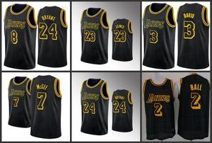 Los AngelesLakersKobeBryantLeBron James Anthony DavisLonzo Topu Basketbol Forması