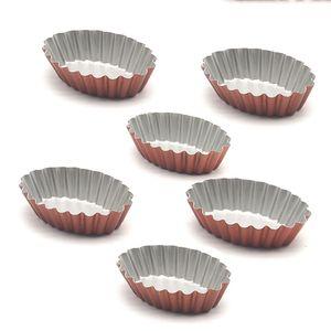 12-Pack ovale Egg Tart Mold, bigné e Muffin tazza di cottura, antiaderente bakeware cottura Gamma per Leeseph Y200612