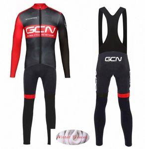 Nueva GCN 2020 PRO TEAM invierno caliente de polar Ciclismo Ropa Hombres Jersey juego del deporte bicicleta MTB de la ropa los pantalones del babero establece 0TUs #