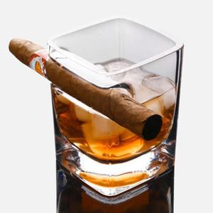 Whisky Copa de cerveza de cristal de vidrio de vino Copas de whisky de cristal Copa cigarro titular Vaso de vino del hogar Lentes cocina comedor La Barra de Herramientas DHC1155