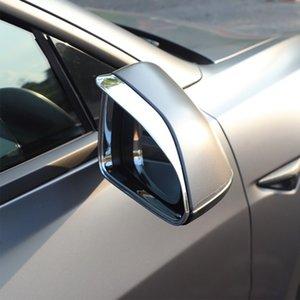 Для Tesla Model 3 2017-2020 автомобиля зеркала заднего вида сбоку козырек щит Обложки Стикер Рамы ABS Carbon Внешнего Molding дифферент Chrome