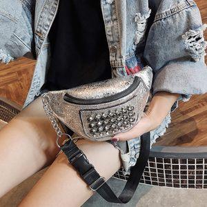 Bolso de pecho ancho ejecutando discoteca Fashion Strap Sling Sling Bolsa de mujer Sequin Mini XXTDS