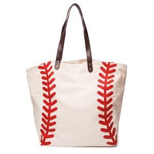 Мода Пробелы Бейсбол Tote сумки Спортивные сумки Tote Повседневный софтбол Сумка Футбол Футбол Баскетбол Сумка Хлопок Холст Материал