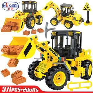 Car Mixer Para Presente Crianças Engenharia carregador Erbo Technic carro Combinação Brinquedos Construção Blocos Tijolos Caminhões City Road sqceWS rolo