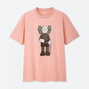 2020 Nuovo Uniqlo Uniqlo X Kaws Stampa congiunta a maniche corte moda moda hip-hop tendenza casual rosa s m l xl 2xl