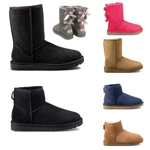 New Traditional Australian Women Snow Boots Wgg Cowhide Leather Ankle Boots Warm Winter Boots Women's Shoes Large 36-40 Warm Non-slip