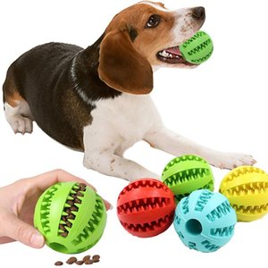 Rubber Chew Ball Dog Teeth Cleaning Molar Toy Bite Resistant Pet Interactive Leakage Food Balls Puppy Toothbrush Training Toys