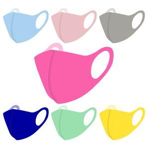 Máscara de verão da face cor sólida 11 Cores Colorido Anti Poeira cobrir a boca reutilizável lavável respirável máscaras protetoras OOA8290