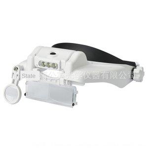 Lr8KU Beileshi drei LED-Beleuchtung Kopf tragen Lupe 3 Linsen 6mal Wartung Schönheit Wartung Linse Schönheit Objektiv Arbeit