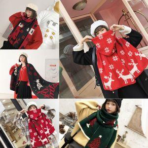 UWad5 cm Klasik yetişkin Eşarp Kış Moda ve Kadın Noel Büyük Eşarplar Erkekler Infinity Eşarp yeşil kırmızı