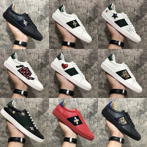 New Arrival Fashion Men Women Casual Shoes Sneakers Shoes Top Quality Genuine Leather Bee Embroidered