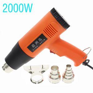 2000W Hand Held Heat Gun + 3pcs Nozzle Portable Hot Air Gun Blower 220V Hand-held Heat Welding Soldering Repair Tools