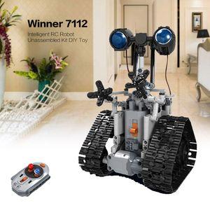 408PCS Creative City RC Robot Building Blocks électrique à distance Technic briques Robot Intelligent de contrôle des jouets pour enfants cadeau RC toyss