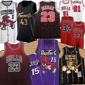 Vince 15 Carter 23 Michael Pascal 43 Siakam Basketbol Jersey Scottie Dennis 33 Pippen 91 Rodman Bull Kyle Tracy Fred Lowry McGrady VanVleet