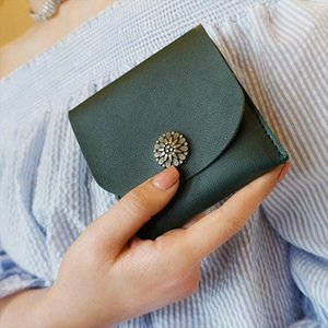 Slim Mini Wallet Female 2019 New Lady Short Solid Women Wallets Money Bag Hasp PU Leather Small Coin Purse Card Hold Girl