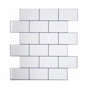 Vividtiles más gruesa blanca metro Azulejos despegar y pegar azulejos de la pared palo en Entrepaños de cocina para el parachoques 1 Hoja TFEP #