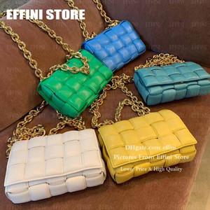 Luxurys Tasarımcılar çantalar Yastıklı Kaset Bayan Moda Omuz Çantası Çanta Cüzdanlar EFFINI Hakiki Gerçek Deri Büyük Zincir Yastık Crossbody Çanta