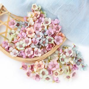 2см Daisy Flower Head Mini Шелковый Искусственные цветы Для дома Свадебные украшения DIY Garland Headdress Поддельные Цветы Декор