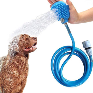 Pet Bathing Tool Shower Water Sprayer 8.2ft Bath Tub Scrubber Outdoor Dog Washing Grooming Massage Remove Hair for Dog Cat Horse