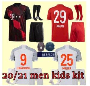 Uomi bambini kit 20 21 SANE LONTANO LEWANDOWSKI Bayern Monaco Gnabry Jersey di calcio 2020 2021 maglia della camicia di calcio 120th NIANZOU MUNCHEN calzini set