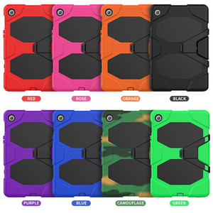 Three in One Hard PC Silicone Double Defence Case with Screen Frame Cover for Samsung T290 Samsung S3 9.7 T825 T820 with Kickstand
