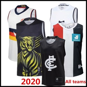 2020 2021 AFL camiseta de Liga singlete Carlton Blues Adelaide Crows Collingwood Richmond Tigers Hawthorn Hawks jerseys