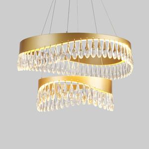 Современный круглый черный Кри освещения для гостиной Столовая Спальня Внутреннее освещение LED Золотой Подвесной светильник AC 110V 220V