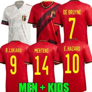 2020 2021 PERIGO Lukaku MERTENS Bélgica Futebol Início 20 21 De Bruyne Tielemans equipe nacional Bélgica homens afastado brancos crianças Futebol shi