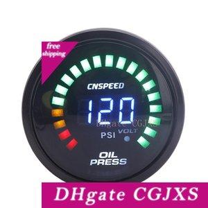 빛 Cnspeed 2 인치 52mm의 LED 디지털 자동 오일 압력 게이지 미터 경주 오일 압력 게이지