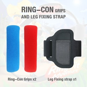 Ring-con Grips and Leg Fixing Strap for Switch Adventure Game Non-slip Breathable Yoga Fitness Ring Grips & Wearable Leg Fixing Strap