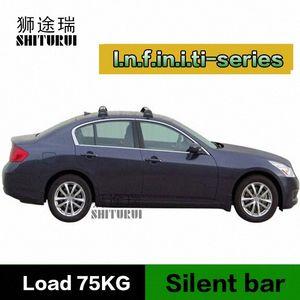SHITURUI Per Infiniti G Infiniti EX35 Sedanultra blocco cintura tetto tranquilla camion bar vettura speciale lega di alluminio ymZ8 #