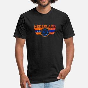 Nederland Jersey shirt do futebol Splatter t shirt homens criam camisa de manga curta O Neck Louco Vintage Humor verão Padrão