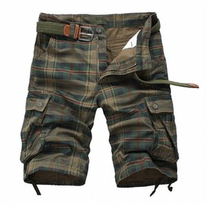 Plaid Beach 2020 Summer Mens Casual Camo Camouflage Shorts Military Short Pants Male Bermuda Cargo Overalls Men 200922