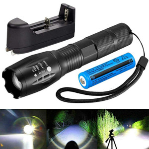 Torcia automatica regolabile da 500000LM TO TH TARCH Torch Torch Camping ricaricabile Zoomable 18650 Batteria + Caricabatterie