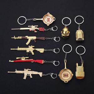 Playerunknown в Battlegrounds брелок Металлический AK47 Подвеска PUBG оружие 12см Gun Модель брелоков llavero вентилятора подарка