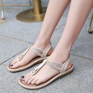 Chaussures Femme 2020 Bohême plat d'été Chaussures Casual Eillysevens Lady inférieure douce plage Chaussures femme décontractée # G40