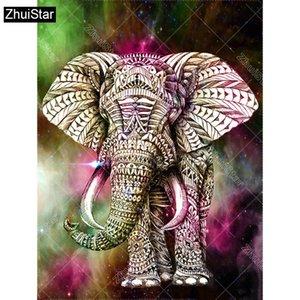 "Full Square Drill 5D DIY Diamond Painting ""Animal elephant"" 3D Embroidery Cross Stitch Mosaic Decor Gift XSH"