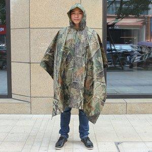 SkdJp Novas roupas manto engrossado Cloak roupas ao ar livre corpo corpo de camuflagem PVC jumpsuit adulto biônico Yiwu