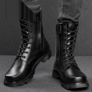4ZgLc LeatherTooling Männer Rindkampfkopfboden hoch oben Winter woolhook Schuhe Herren-Rindskampfstiefel Stahlkopf LeatherTooling st