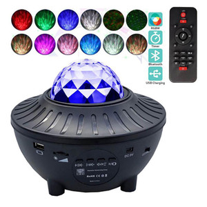 USB LED Galaxy Proiettore Starry Sky Projector Lamp Star Light Voice Control Lampeggiante luce notturna con altoparlante di musica Bluetooth