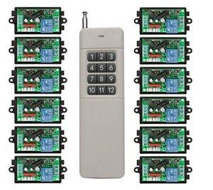3000M Long Range AC220V 1CH RF Wireless Remote Control Relay luce Switch / lampada / finestra / schermo di proiezione Garage Doors Tapparelle
