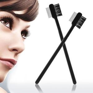 Acier Sourcils Cils double peigne extension brosse Close-emballés outil de maquillage peigne
