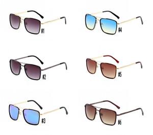 Yeni 138 Tasarımcı Klasik Güneş Erkek Kadın Kare Sürüş Gözlük Radyasyon Koruma Sürücü Gözlük Yeşil Marka Kutusu ile