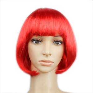 Cosplay Synthetic Front Multiple color Hair Short Wigs Brazilian Wig Hair Sale